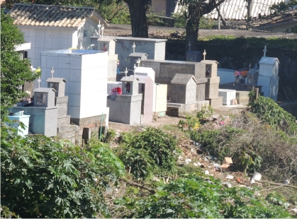Fundos do Cemitério do Centro Histórico virou Lixão